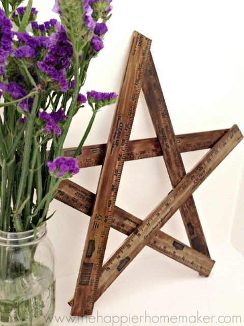 how to make a yardstick star