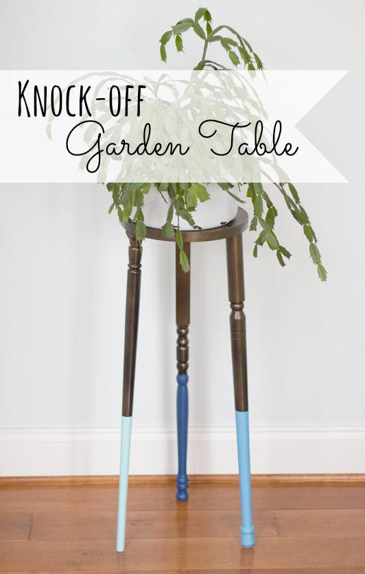 Knock off Partridge Garden Table Tutorial