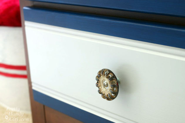 Spigot Faucet Drawer Knobs Tutorial | Pretty Handy Girl