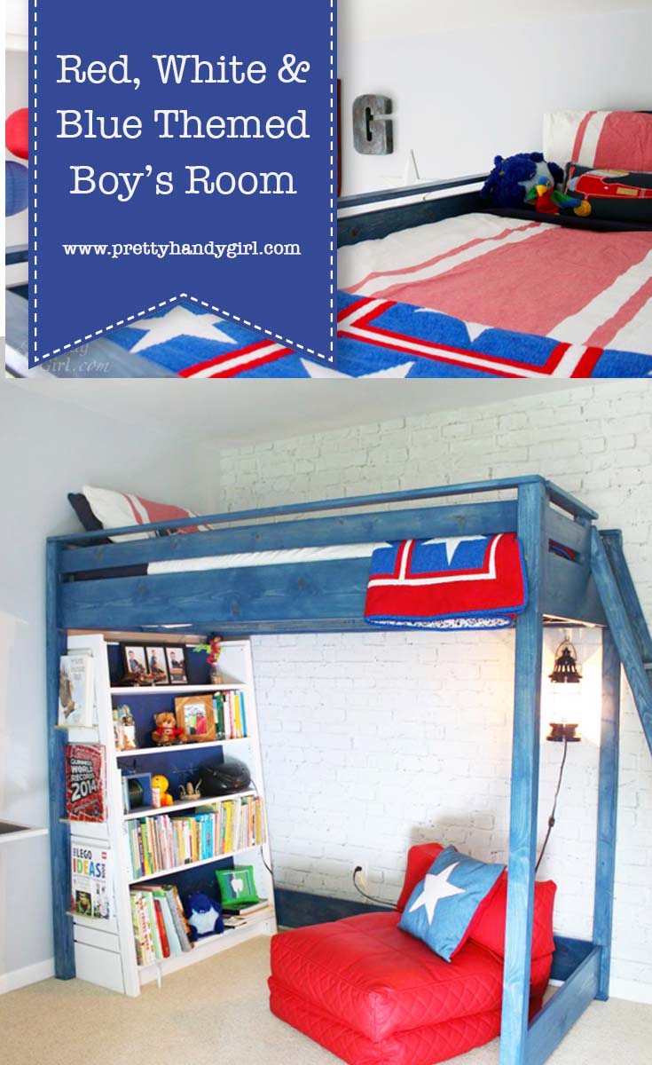 Red, White & Blue Themed Boy's Room Reveal