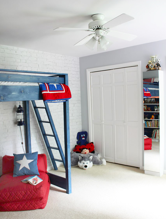 DIY Loft Bed | Pretty Handy Girl
