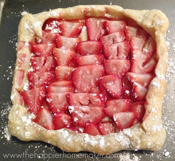 making a strawberry tart easy