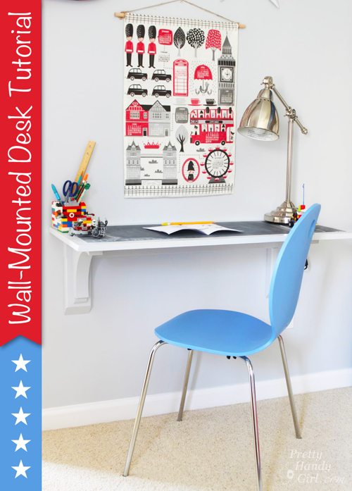 Wall desk tutorial Pretty handy girl