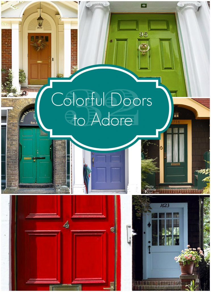 32 Colorful Doors & 32 Colorful Doors to Adore - Pretty Handy Girl