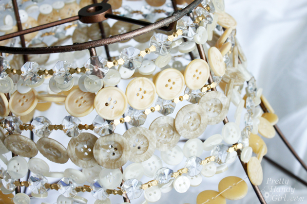 DIY Button Pendant Light | Pretty Handy Girl