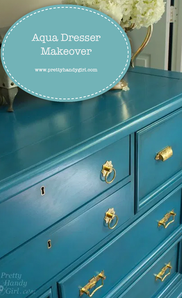 Aqua Dresser Makeover | Pretty Handy Girl