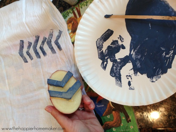 how to potato stamp paint