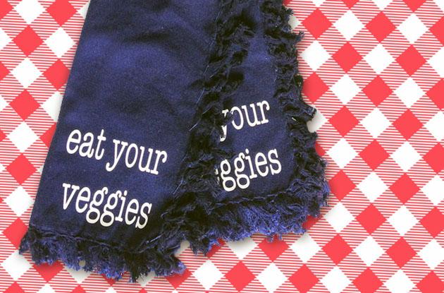 eat your veggies napkins