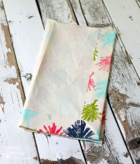 Sew Easy Anthropologie Cloth Napkin Gift Bags | Pretty Handy Girl