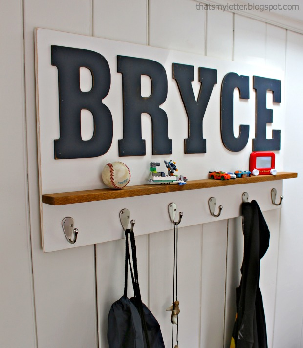 personalized wall shelf