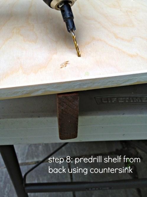 personalized wall shelf step 8