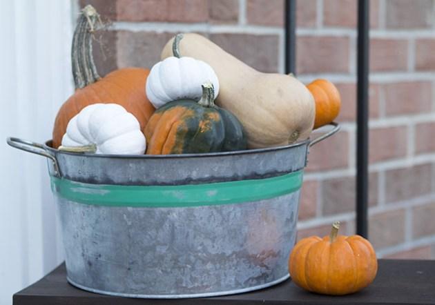 aged galvanized bucket