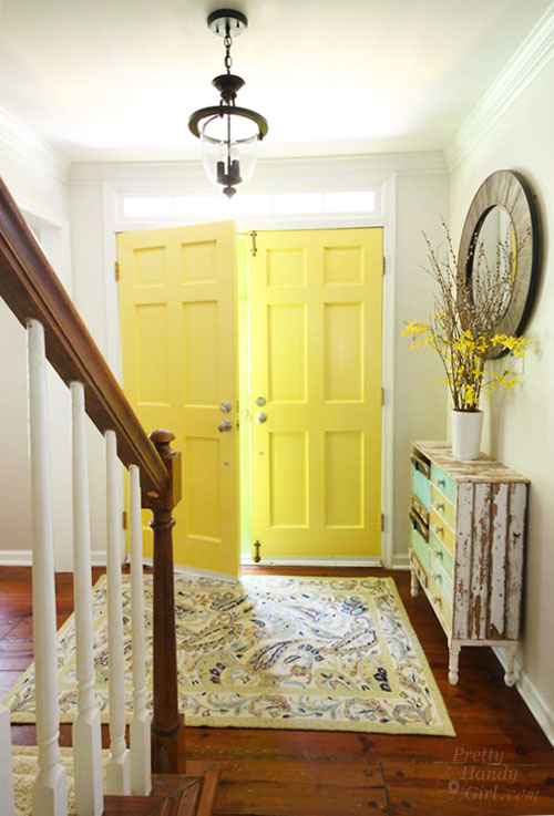 Amazing Good Day Sunshine Yellow Painted Doors Pretty Handy Girl Complete Home Design Collection Barbaintelli Responsecom
