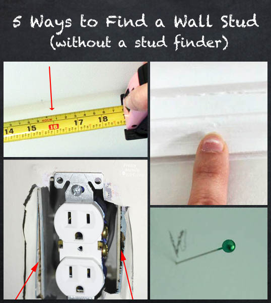 5 Ways to Find a Wall Stud (without a stud finder) | Pretty Handy Girl