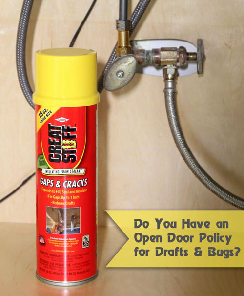 Seal Gaps Around Pipes with GREAT STUFF | Pretty Handy Girl