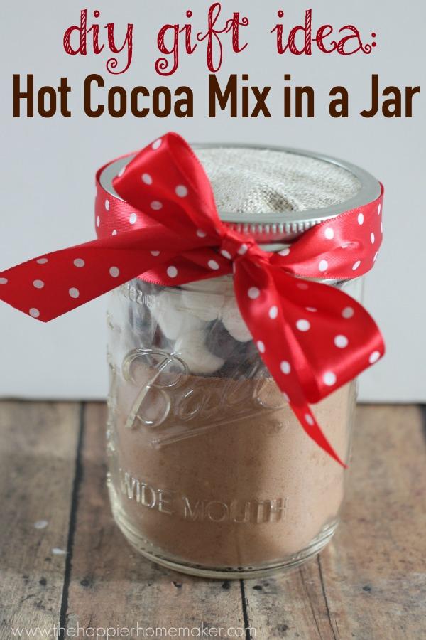 Diy Gift Idea Hot Cocoa Mix In A Jar Pretty Handy Girl