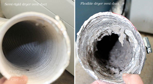 Semi-rigid vs. flexible dryer duct | Pretty Handy Girl