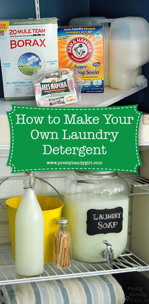 laundry detergent in glass container