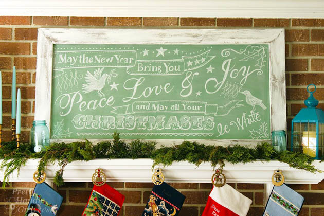 How to build a giant chalkboard
