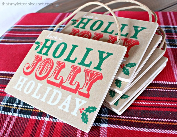 Hostess Gift Ideas - Paper Bag Ornaments
