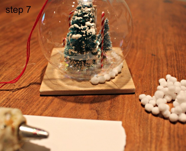 snowglobe ornament step 7