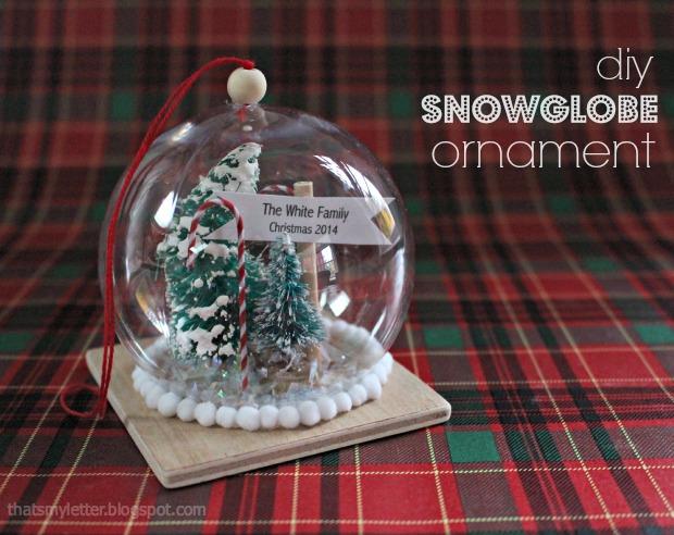 Diy snow globe ornament solutioingenieria Images