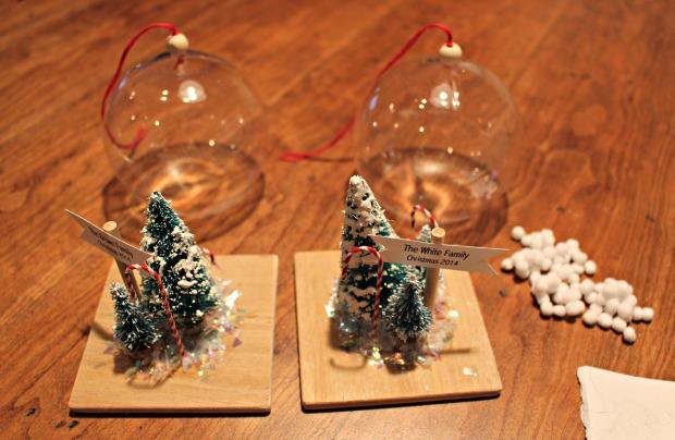 snowglobe ornaments prep