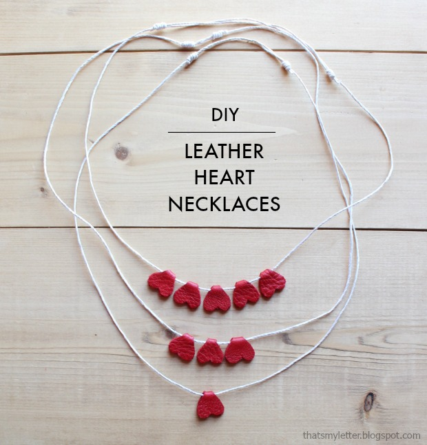 leather heart necklaces