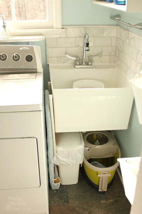 Laundry Room Sink Skirt   Pretty Handy Girl
