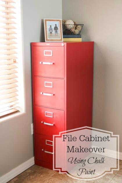Makeover filing cabinet with chalk paint