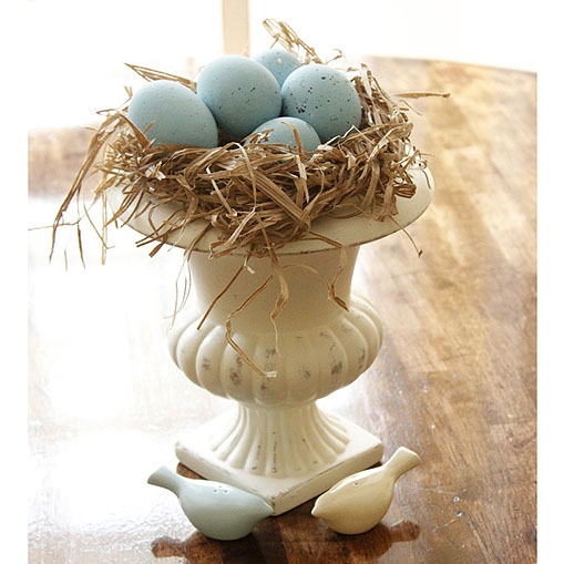 Faux Robin's Egg Spring Nest | Pretty Handy Girl