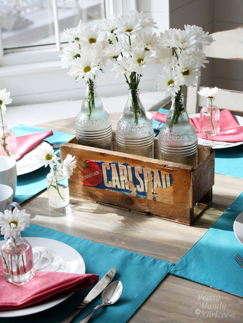 Build a Vintage Produce Crate Centerpiece without Power Tools by Pretty Handy Girl