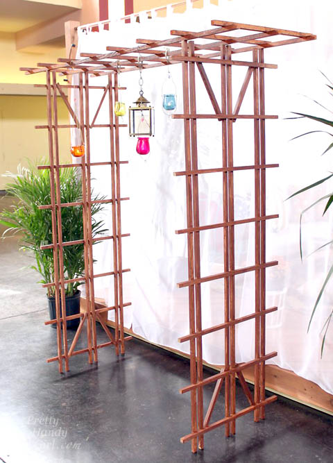 Build a Temporary Pergola with Trellises | Pretty Handy Girl