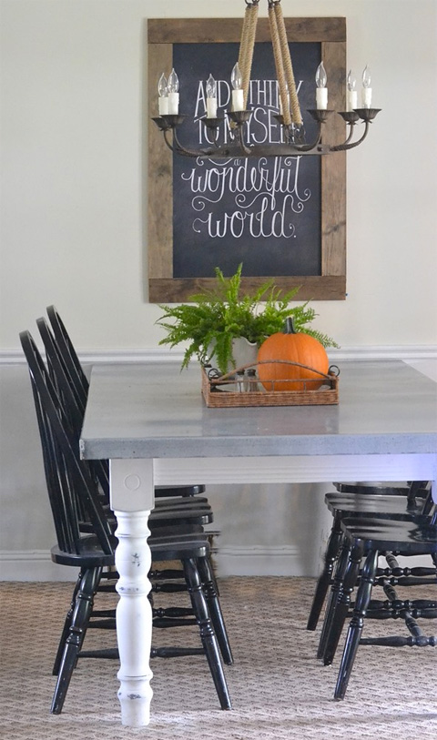 Zinc Topped Table by Beneath My Heart