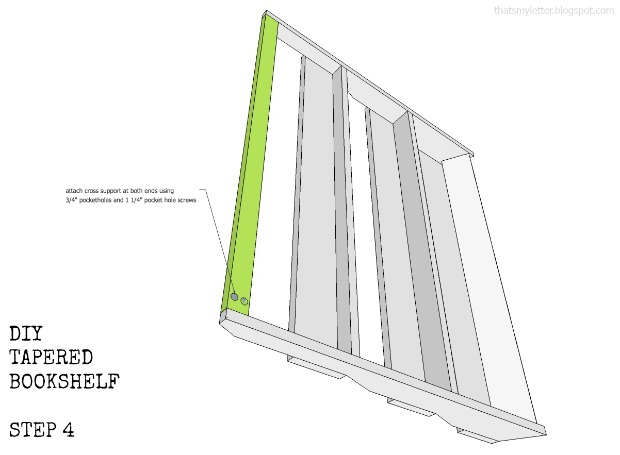 bookshelf tapered step 4 plans