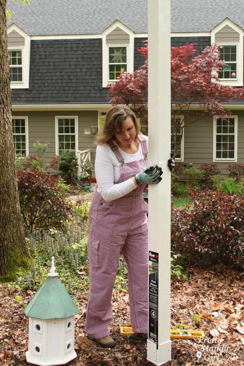 Install a Post Mounted Birdhouse | Pretty Handy Girl