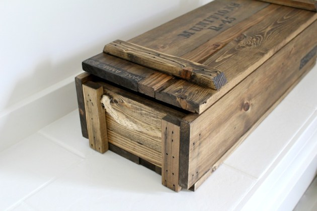 how to build a wood ammo box