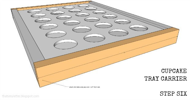 cupcake tray carrier step six