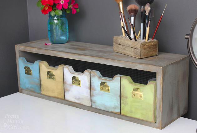 Plenty 'o Storage from One Board | Pretty Handy Girl