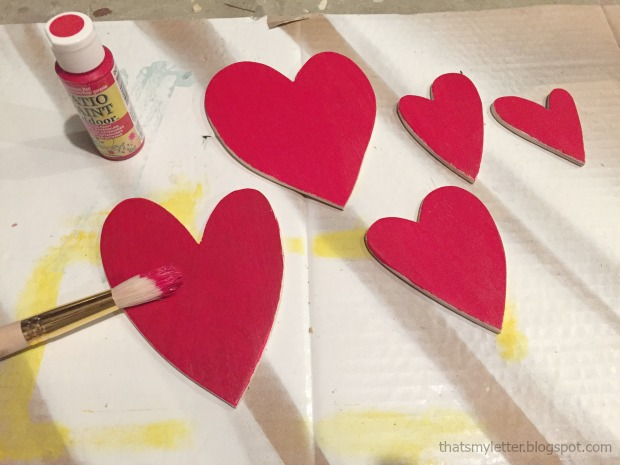 red hearts painting