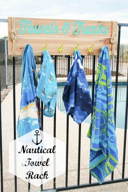 diy nautical towel rack pretty handy girl