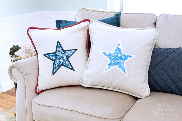 fingerprint star pillows