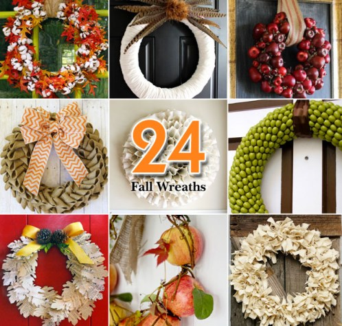 24 Creative Fall Wreaths | Pretty Handy Girl