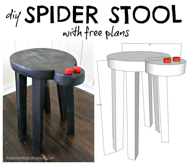 spider stool collage