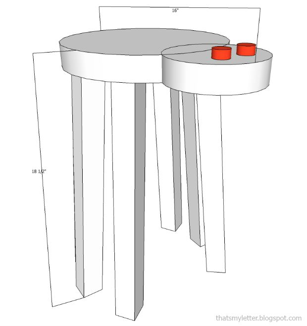 spider stool dimensions