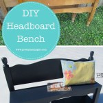 Transform two headboards into a functional bench with this tutorial from Pretty Handy Girl | DIY bench | #prettyhandygirl #DIY #woodworking #bench