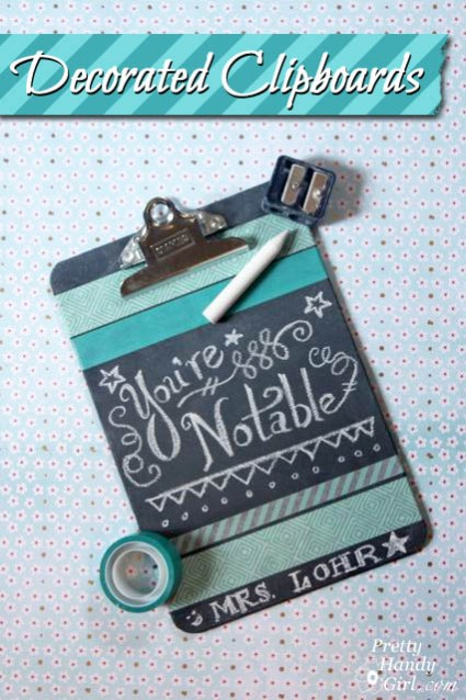 Decorated Chalkboard Clipboards
