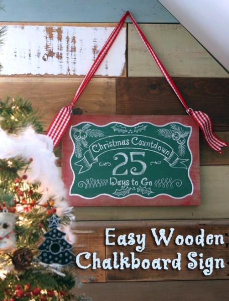 Easy Wooden Chalkboard Sign