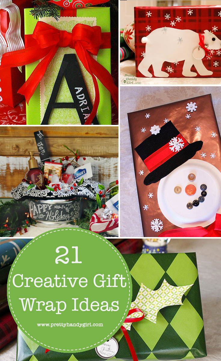 Using creative gift wrapping is a special way to create memories that will last a lifetime. Enjoy these 21 creative gift wrapping ideas! | Pretty Handy Girl #prettyhandygirl #giftwrap #creativegiftwrapping
