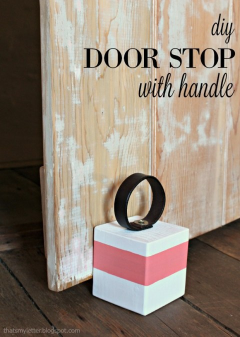 How To Make A Door Stopper.Diy Door Stop With Handle